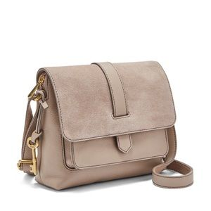 Fossil Kinley Taupe Small Crossbody Purse Bag